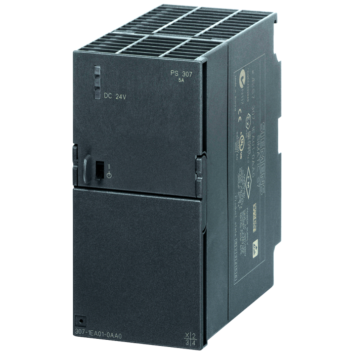 SIMATIC S7-300 Regulated power supply PS307 input: 120/230 V AC, output: 24 V/5 A DC