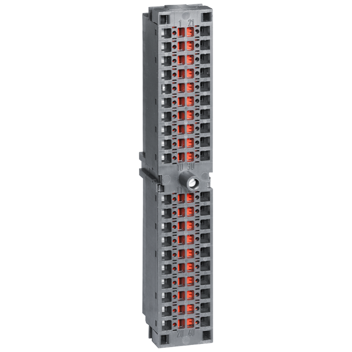 SIMATIC S7-300, Front connector for signal modules with spring-loaded contacts, 40-pole